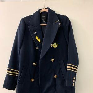 Forever 21 Patch Military Jacket